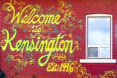 De Graffiti Toronto Canada van de Kensingtonmarkt Stock Foto's