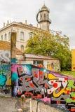 De Graffiti van Lissabon Stock Foto's