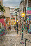 De Graffiti van Lissabon Royalty-vrije Stock Foto's