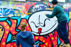 De graffiti van straatlissabon Royalty-vrije Stock Foto's