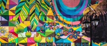 De graffiti van de straatmuur in Minsk Wit-Rusland royalty-vrije stock afbeelding