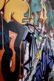 De Graffitiart. van de Wynwoodstraat stock fotografie
