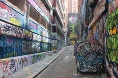 De Graffitistraat van Melbourne Stock Foto's