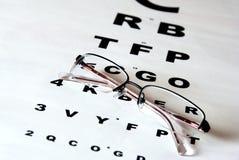 De grafiek en de glazen van het oog Stock Afbeeldingen