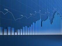 De Grafiek, het Net en de Aantallen van Loooong Stock Fotografie
