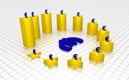De grafiek maakte van de EU-vlagsterren Royalty-vrije Stock Afbeelding