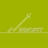 De grafiek toont de groei en de winst vector illustratie
