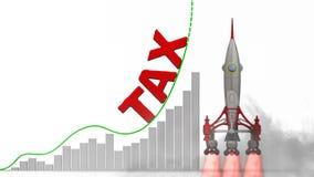 De grafiek van de belastingsgroei vector illustratie