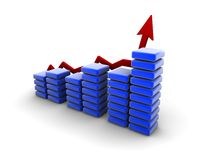 De grafiek van Bussiness Stock Fotografie
