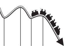 De grafiek van de achtbaan Royalty-vrije Stock Afbeeldingen