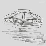 De grafiek van de autohoutskool vector illustratie