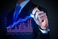De grafiek van de bedrijfsmensentekening Royalty-vrije Stock Foto's