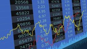 De grafiek van de beursgrafiek Financiële effectenbeursgegevens De abstracte kaars van het effectenbeursdiagram verspert handel Stock Foto