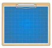 De grafiek van de blauwdruk Stock Afbeelding