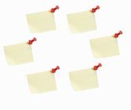 De grafiek van de cirkel van kleverige nota's Stock Foto's