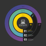 De Grafiek van de Cirkeldiagramcirkel Modern Infographics-Ontwerpmalplaatje Vector Royalty-vrije Stock Foto