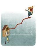 De grafiek van de de groeigrafiek van de koekoeksklok Royalty-vrije Stock Foto