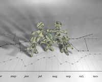 De grafiek van de dollar Royalty-vrije Stock Foto