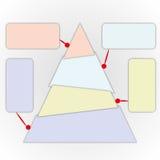De grafiek van de driehoek Stock Afbeelding