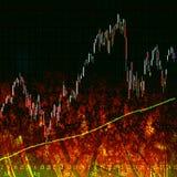 De Grafiek van de Effectenbeurs Royalty-vrije Stock Afbeelding