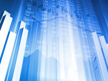 De Grafiek van de Effectenbeurs met Index Royalty-vrije Stock Foto's