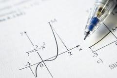 De grafiek van de functie Royalty-vrije Stock Afbeeldingen