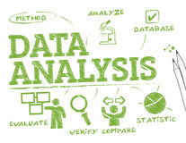De grafiek van de gegevensanalyse vector illustratie