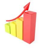 De Grafiek van de groei Stock Foto