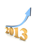 De Grafiek van de Groei van het jaar 2013 Royalty-vrije Stock Afbeeldingen