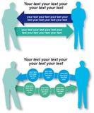 De grafiek van de Infographicorganisatie met tekstgebied Royalty-vrije Stock Afbeelding