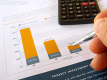 De grafiek van de investering Stock Fotografie