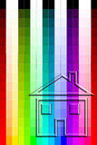 De Grafiek van de kleur - de Verf van het Huis Royalty-vrije Stock Foto