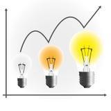 De grafiek van de lamp Royalty-vrije Stock Foto