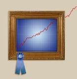 De Grafiek van de lijn Stock Foto's