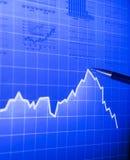 De grafiek van de markt royalty-vrije stock afbeeldingen