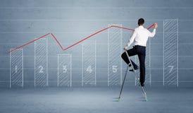 De grafiek van de mensentekening van ladder royalty-vrije stock foto's