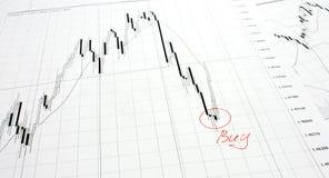 De grafiek van de munt Royalty-vrije Stock Fotografie