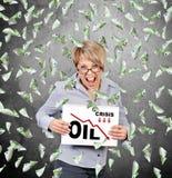 De grafiek van de oliecrisis Stock Fotografie