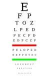 De grafiek van de optometrist Stock Afbeelding