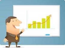 De Grafiek van de Presentatie van de mens Stock Afbeeldingen