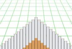De grafiek van de sigaret Stock Foto's