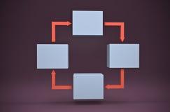 De grafiek van de stroom royalty-vrije illustratie