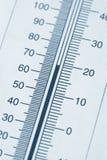 De grafiek van de thermometer royalty-vrije stock fotografie