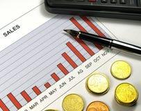 De grafiek van de verkoop Stock Foto