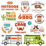 De grafiek van de voedselvrachtwagen Stock Foto
