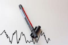 De grafiek van de voorraad Stock Afbeeldingen