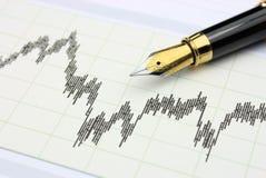 De grafiek van de voorraad Stock Foto's