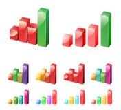 De Grafiek van de vooruitgang Stock Afbeeldingen
