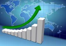 De grafiek van de wereld Royalty-vrije Stock Afbeelding