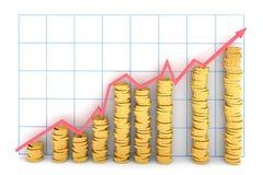 De grafiek van de winst royalty-vrije illustratie